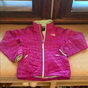 Girls North Face Thermoball Puffer Jacket Coat